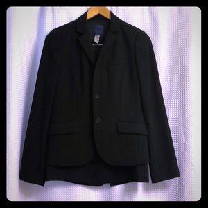 J Crew black wool skirt suit